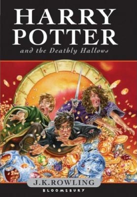Harry Potter and the Deathly Hallows, UK Young Adult book cover by Jason Cockcroft
