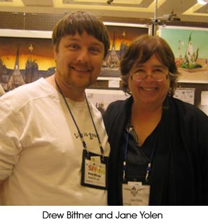 Photo of Jane Yolen with Drew Bittner